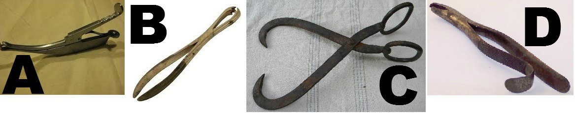 colonial tobacco tongs multiple choice