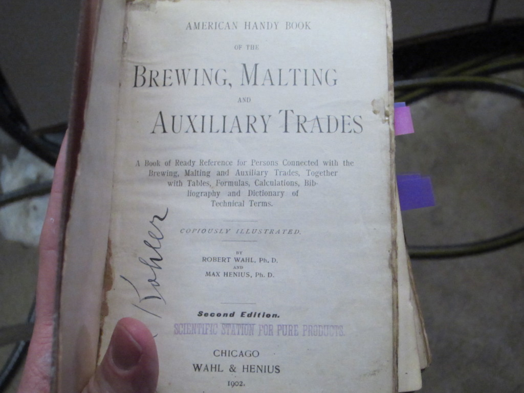 Tom's well-used copy of the home brewer's Bible.