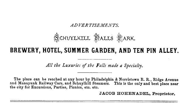 Schuylkill Falls Park ad got it