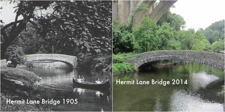 Hermit lane bridge canoers b a