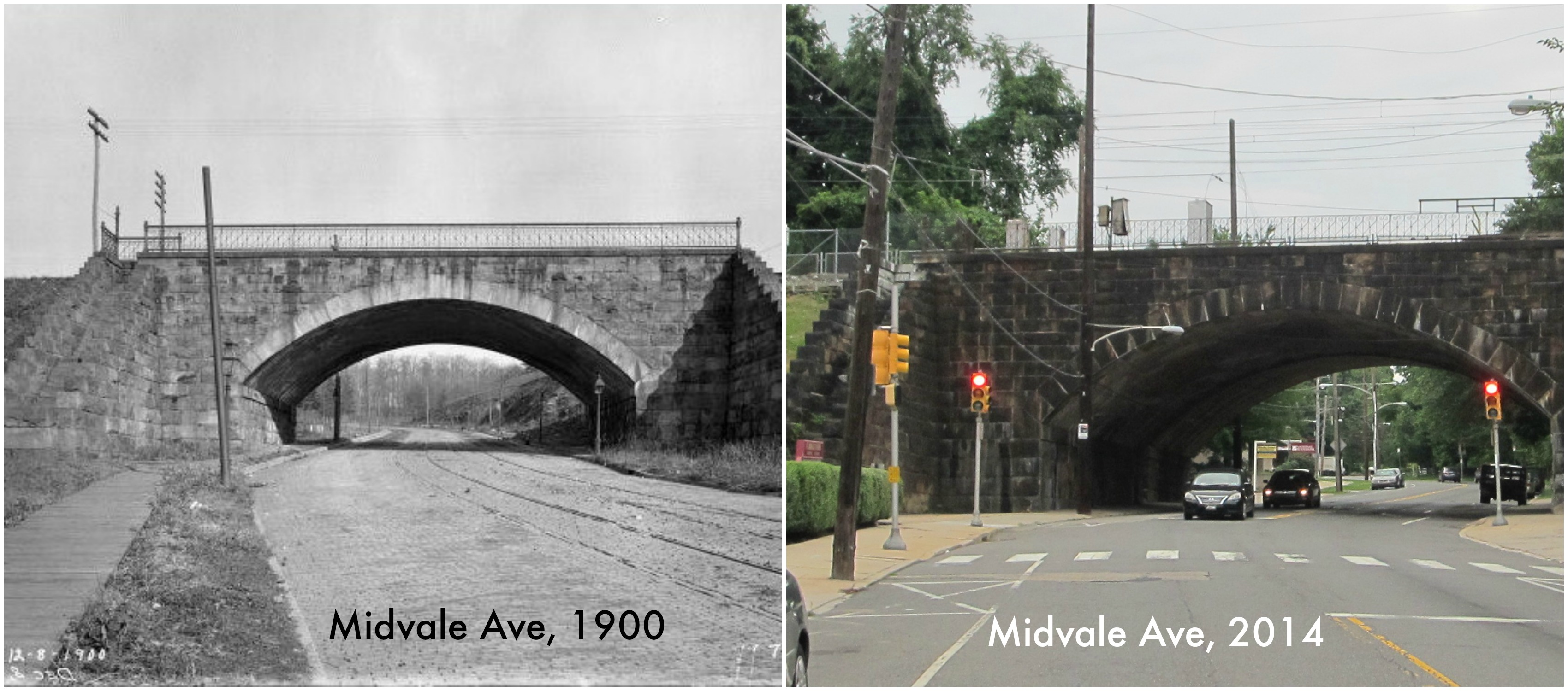 midvale looking up to bridge b a