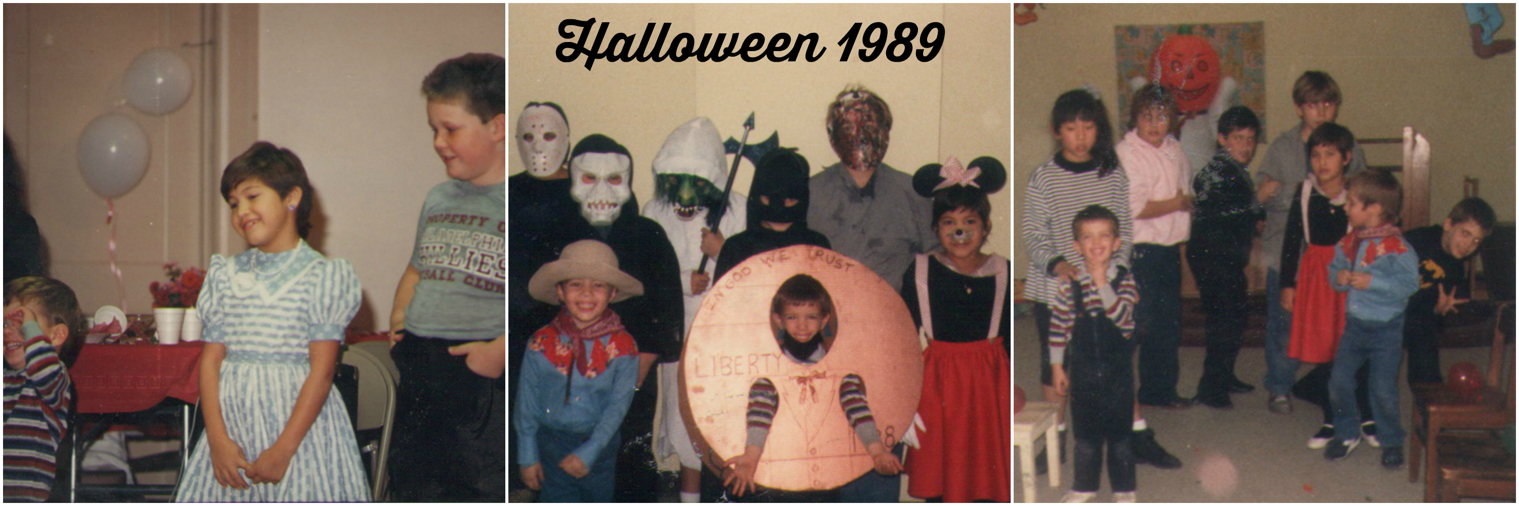 Halloween 1989 collage text