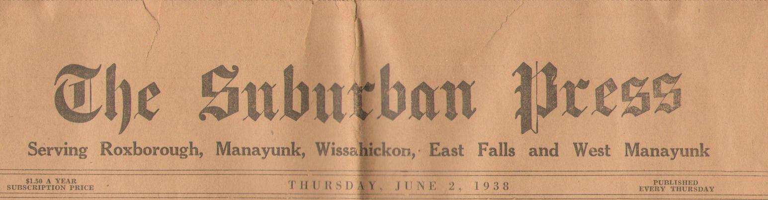 Suburban Press Thurs June 2 1938 cropped