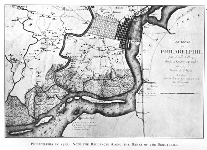 old map phila 1777