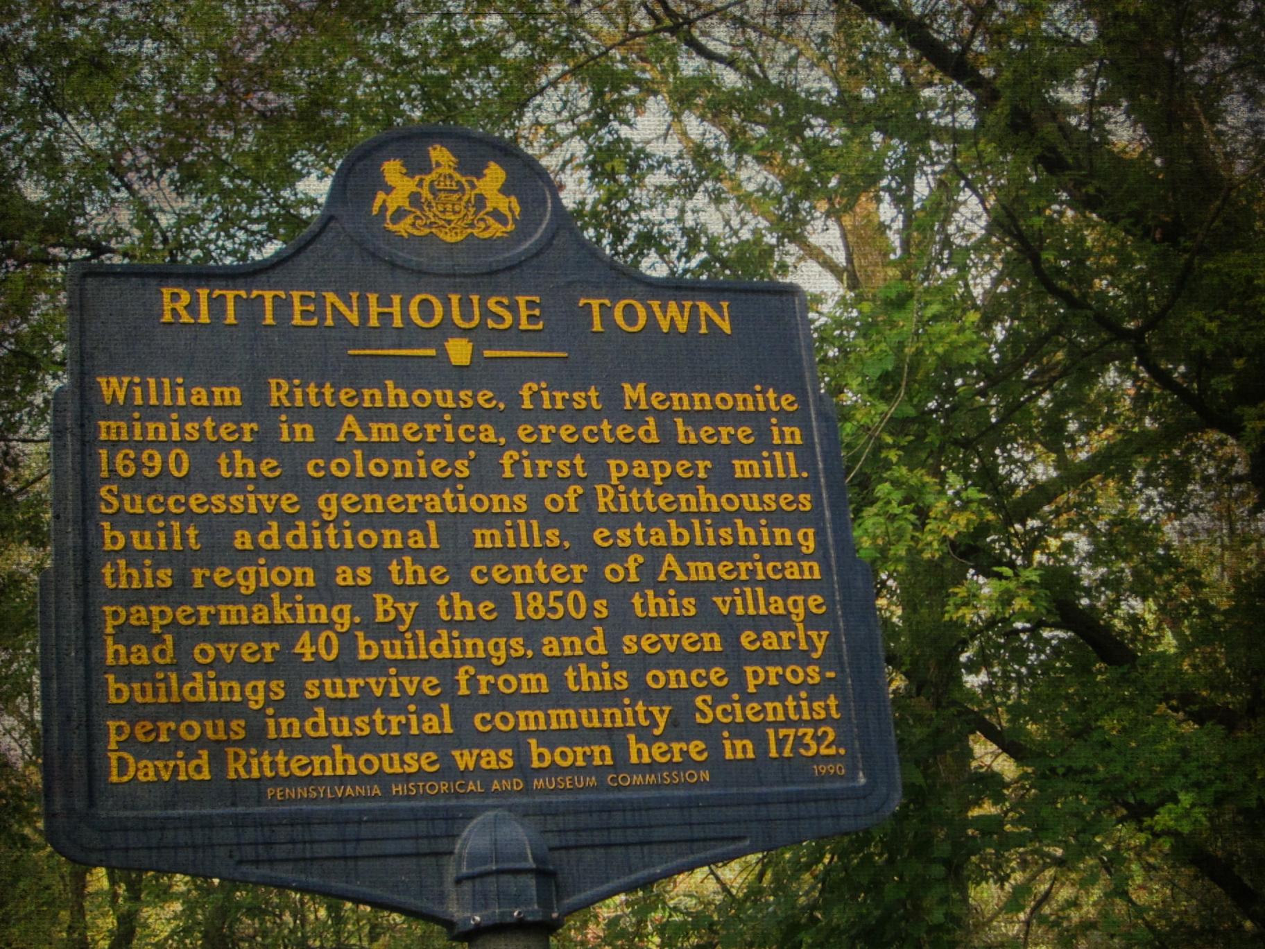 Rittenhousetown blue sign PM spooky